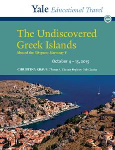 The Undiscovered Greek Islands
