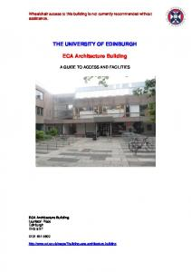 THE UNIVERSITY OF EDINBURGH.. ECA Architecture Building