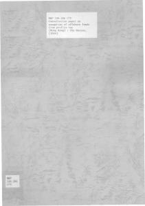 THE UNIVERSITY OF HONG KONG LIBRARIES. Hong Kong Collection. gift from Hong Kong (China) Financial Services and the treasury Burequ