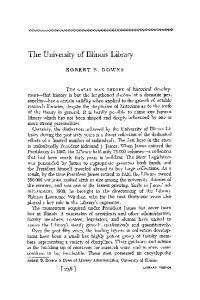 The University of Illinois Library