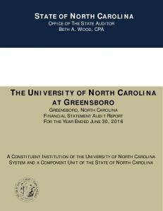THE UNIVERSITY OF NORTH CAROLINA