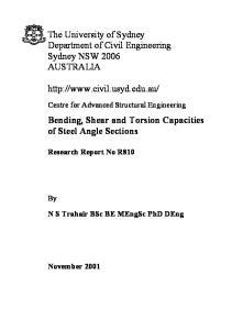 The University of Sydney Department of Civil Engineering Sydney NSW 2006 AUSTRALIA