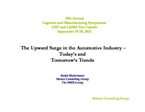 The Upward Surge in the Automotive Industry Today s and Tomorrow s Trends