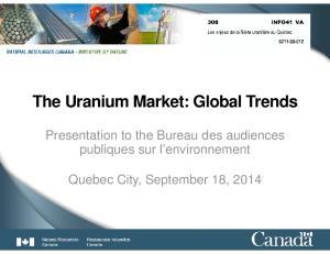 The Uranium Market: Global Trends