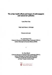 The urban health effects and impact of anthropogenic and natural air pollution