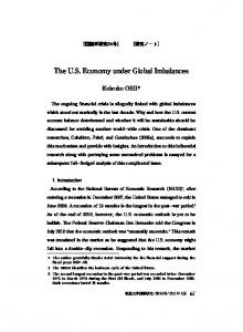 The U.S. Economy under Global Imbalances
