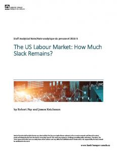The US Labour Market: How Much Slack Remains?