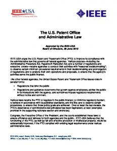 The U.S. Patent Office and Administrative Law