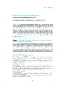 The use of cluster resources A dynamic capabilities approach