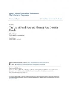 The Use of Fixed-Rate and Floating-Rate Debt for Hotels