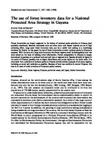The use of forest inventory data for a National Protected Area Strategy in Guyana