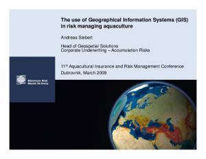 The use of Geographical Information Systems (GIS) in risk managing aquaculture