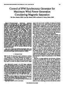 THE USE OF permanent-magnet synchronous machines