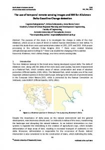 The use of temporal remote sensing images and GIS for Aliakmon Delta Coastline Change detection