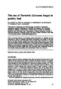 The use of Turmeric (Curcuma longa) in poultry feed