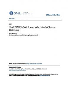 The USPTO's Soft Power: Who Needs Chevron Deference