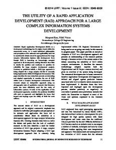 THE UTILITY OF A RAPID APPLICATION DEVELOPMENT (RAD) APPROACH FOR A LARGE COMPLEX INFORMATION SYSTEMS DEVELOPMENT