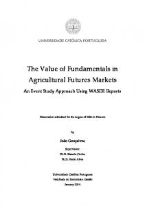 The Value of Fundamentals in Agricultural Futures Markets