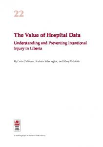 The Value of Hospital Data