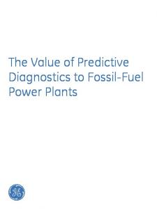 The Value of Predictive Diagnostics to Fossil-Fuel Power Plants