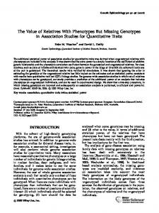 The Value of Relatives With Phenotypes But Missing Genotypes in Association Studies for Quantitative Traits