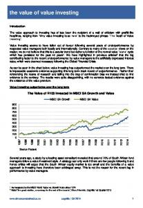the value of value investing