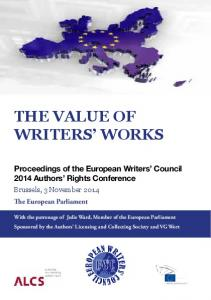 THE VALUE OF WRITERS WORKS