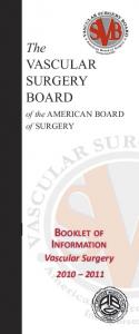 The VASCULAR SURGERY BOARD