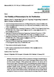 The Viability of Photocatalysis for Air Purification