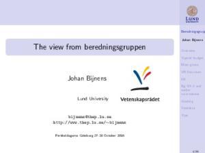 The view from beredningsgruppen