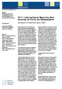 the VIII International Security Conference,