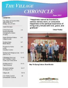 THE VILLAGE CHRONICLE