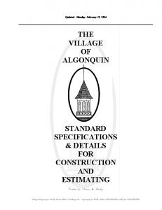 THE VILLAGE OF ALGONQUIN
