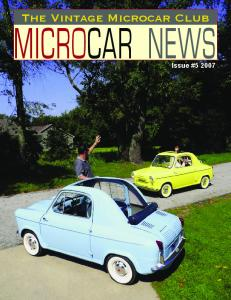 The Vintage Microcar Club MICROCAR NEWS. Issue #5 2007