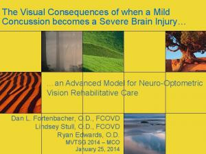 The Visual Consequences of when a Mild Concussion becomes a Severe Brain Injury