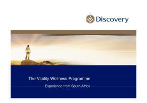 The Vitality Wellness Programme