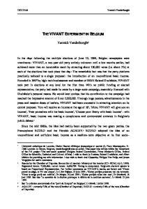 THE VIVANT EXPERIMENT IN BELGIUM