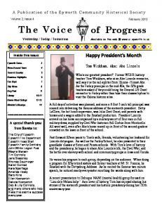The Voice of Progress