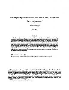The Wage Response to Shocks: The Role of Inter-Occupational Labor Adjustment