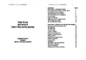 THE WAR BETWEEN THE TWO KINGDOMS