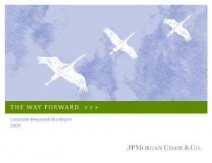 THE WAY FORWARD. Corporate Responsibility Report 2009