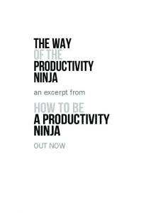 The way of the Productivity