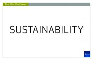 The Way We Green SUSTAINABILITY