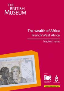 The wealth of Africa French West Africa