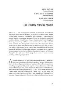 The Wealthy Hand-to-Mouth