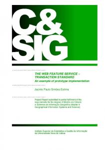 THE WEB FEATURE SERVICE TRANSACTION STANDARD