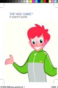 THE WEE GAME. A parent s guide
