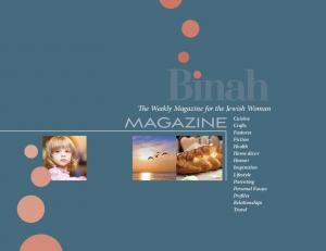 The Weekly Magazine for the Jewish Woman Magazine