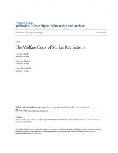 The Welfare Costs of Market Restrictions