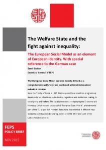 The Welfare State and the fight against inequality: